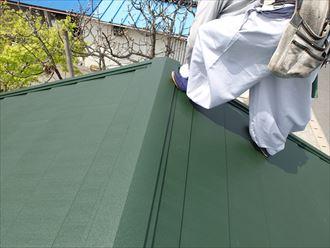 船橋市屋根カバー工事、屋根材敷設001