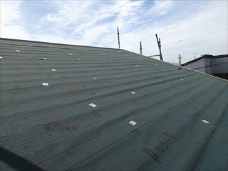 八千代市屋根カバー工事、防水紙、役物002
