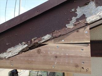 八千代市破風板、軒天補修002