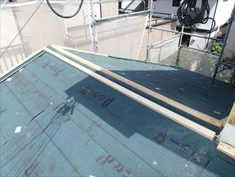 八千代市屋根カバー工事、防水紙、役物001