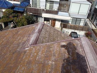 八千代市スレート屋根カバー工事着工前