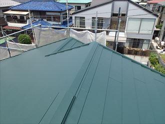 八千代市スレート屋根カバー工事完工