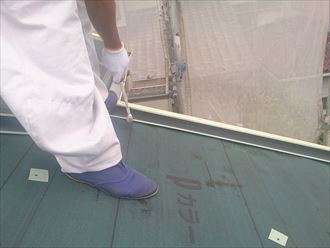 八千代市屋根カバー工事、防水紙、役物004