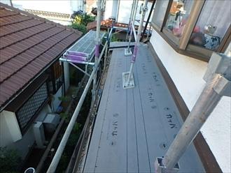 戸塚区、下屋防水紙