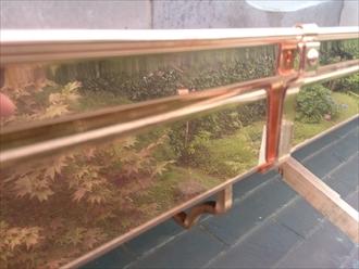 旭区、新しい銅製雨樋