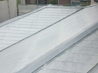 袖ケ浦市 屋根塗装 サーモアイシーラー 塗装後1