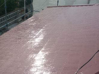 袖ケ浦市 屋根塗装 上塗り後
