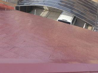 袖ケ浦市 屋根塗装 中塗り後