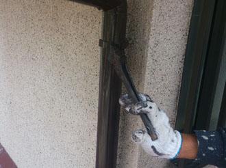 袖ケ浦市 樋の塗装