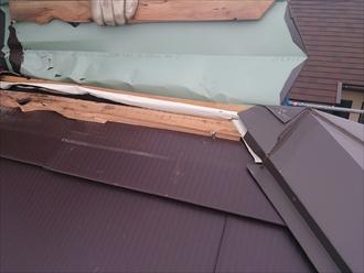 旭区、既存の屋根剥がし