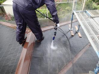 袖ケ浦 塗装工事 高圧洗浄作業