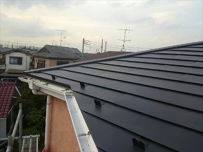 屋根部分カバー、軒先収まり