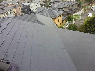 千葉市稲毛区|大型天窓撤去と既存化粧スレートからコロニアルクワッドへの部分葺き替え工事、施工後写真
