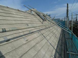 屋根塗装下塗りの足場
