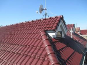 モニエル瓦の屋根の塗装