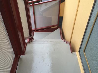 階段床防水アフター