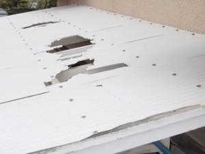 テラス屋根のポリカーボネートの交換