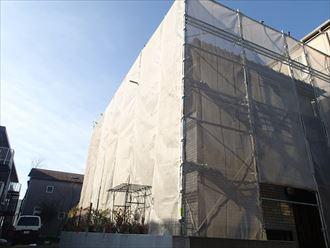 浦安市足場架設完了001