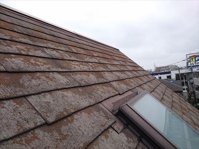 カバー前のスレート屋根