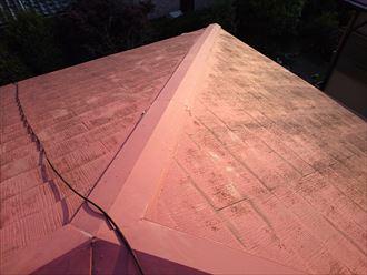 習志野市で大風による棟板金飛散の改修工事を行いました、施工前写真