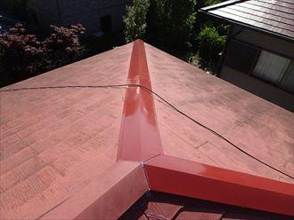 習志野市で大風による棟板金飛散の改修工事を行いました、施工後写真
