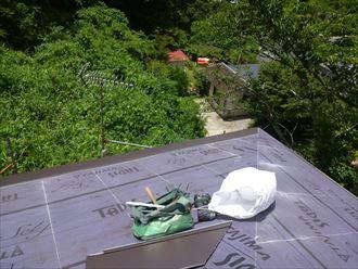 ガルバリウム鋼板,カバー,工事,ルーフィング