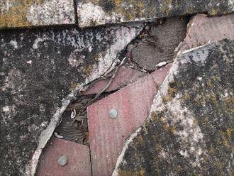 屋根材,割れ,防水紙,穴,雨漏り