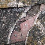 応急措置,スレート,屋根,雨漏り,防水テープ