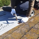 屋根カバー工法 ルーフィングの様子