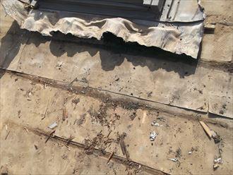 船橋市 瓦屋根の葺き直しにより強風後の雨漏り補修!、施工前写真