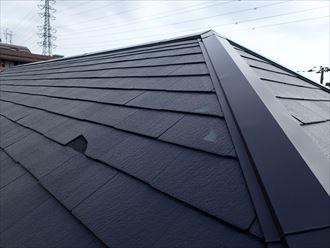 千葉市花見川区 風害によるスレート屋根の割れをIG工業のスーパーガルテクトで屋根カバー工法!、施工前写真