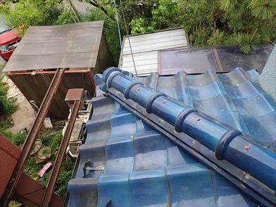 市川市|ベランダ防水で改善しない雨漏りを瓦一部葺き直し工事で補修、施工後写真