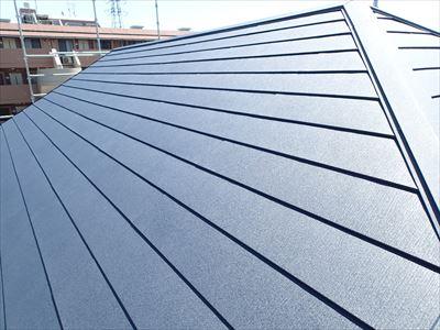 千葉市花見川区 風害によるスレート屋根の割れをIG工業のスーパーガルテクトで屋根カバー工法!、施工後写真