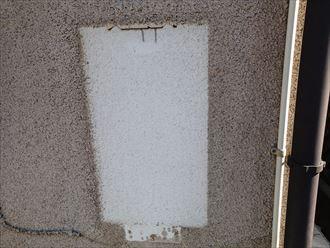 給湯器を撤去した後の外壁