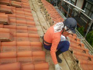 瓦屋根のふき直し
