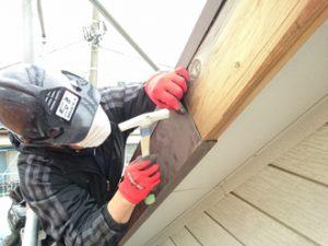 破風板の板金巻工事