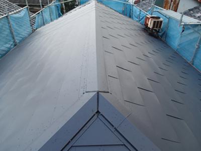 工事後の屋根の全景