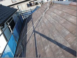 墨田区 屋根塗装前に高圧洗浄を行う