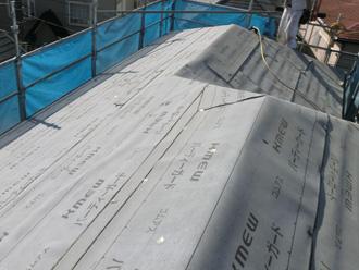墨田区 屋根葺き替え工事 ルーフィング完了