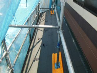 江戸川区 屋根塗装 足場架設