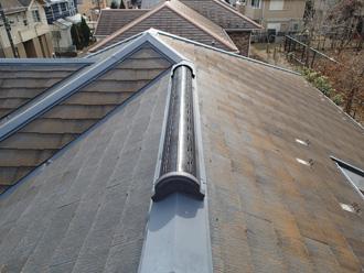 屋根の西側に苔が発生