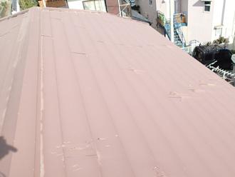 江東区 屋根葺き替え工事前の点検