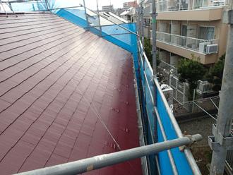 墨田区 屋根塗装後 ヤネMシリコン使用