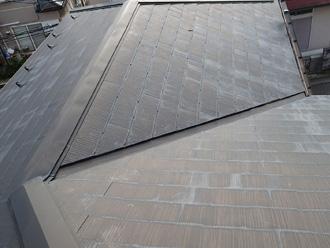 墨田区 屋根葺き替え工事 工事前はスレート屋根