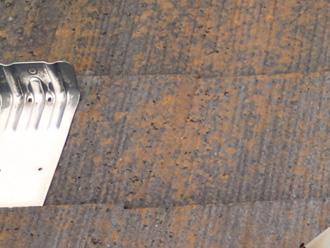 葛飾区 屋根塗装前 苔が生えたスレート