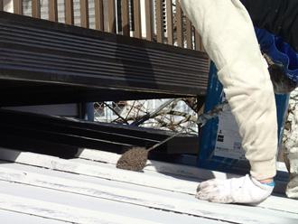 墨田区 屋根塗装 塗装中