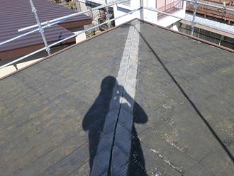 葛飾区 屋根カバー工法 棟板金撤去