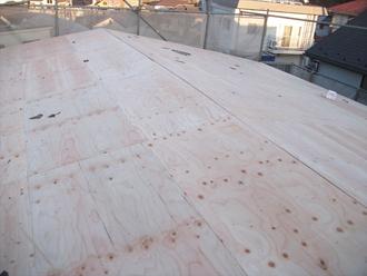 荒川区 屋根葺き替え工事 野地板交換