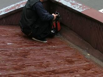 江東区 トタン屋根の葺き替え工事 屋根材撤去