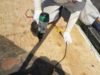 江東区 屋根葺き替え工事 野地板交換